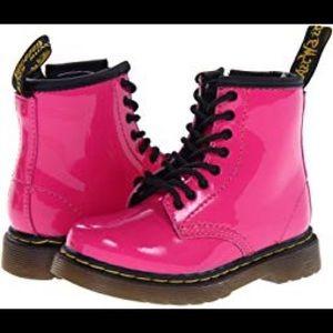 Girls pink doc Martin boots
